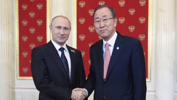 Vladimir Putin-Ban Ki-mun - Sputnik Türkiye