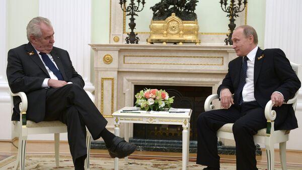 Vladimir Putin - Milos Zeman - Sputnik Türkiye