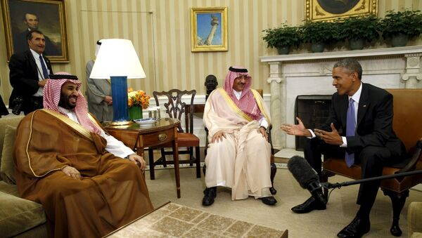 ABD Başkanı Barack Obama- Suudi Arabistan Veliaht Prensi Muhammed bin Nayif bin Abdulaziz el  Suud - Sputnik Türkiye