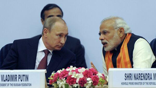 Hindistan Başbakanı Narendra Modi ve Rusya Devlet Başkanı Vladimir Putin - Sputnik Türkiye