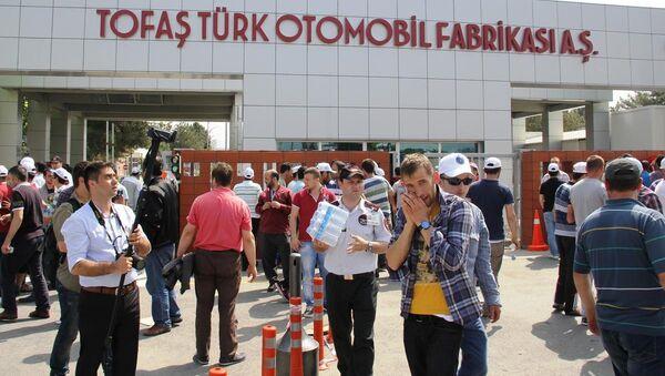 Bursa'daki otomotiv işçilerinin iş bırakma eylemi - Sputnik Türkiye