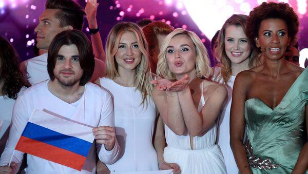 Viyana'daki Eurovision 2015 yarı finalinde Rusya'yı temsil eden Polina Gagarina - Sputnik Türkiye