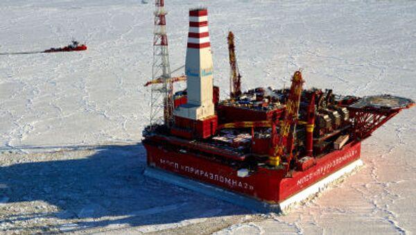 Prirazlomnaya  deniz tabanlı petrol arama platformu. - Sputnik Türkiye