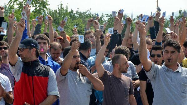 Kocaeli'deki otomotiv işçilerinin eylemi - Sputnik Türkiye
