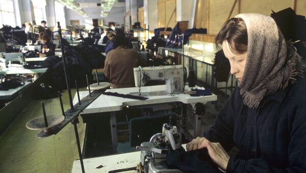 Rusya çalışan kadın fabrika - Sputnik Türkiye