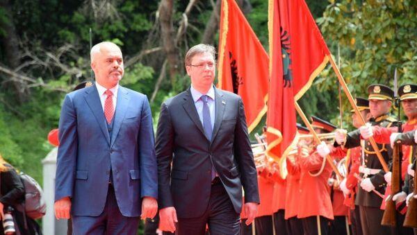 Aleksandar Vuçiç & Edi Rama - Sputnik Türkiye