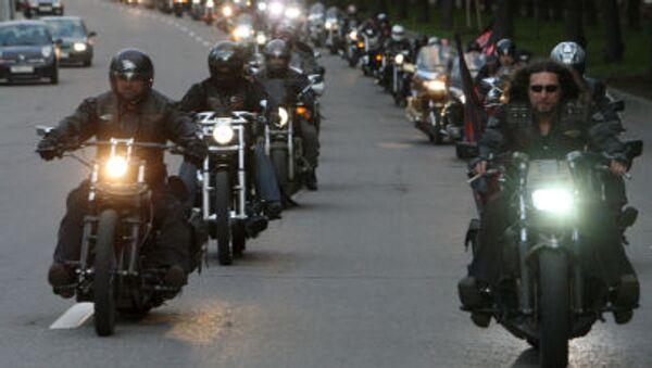 'Gece Kurtları' adlı motosiklet kulübünün üyeleri - Sputnik Türkiye