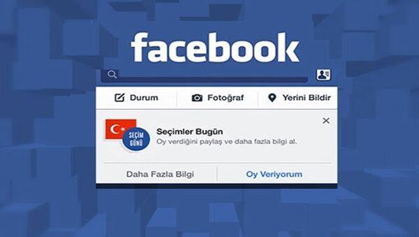 Facebook'un 'Oy veriyorum' butonu - Sputnik Türkiye