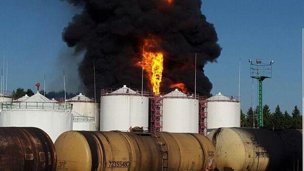 Kiev yakınlarındaki petrol depolarında yangın - Sputnik Türkiye