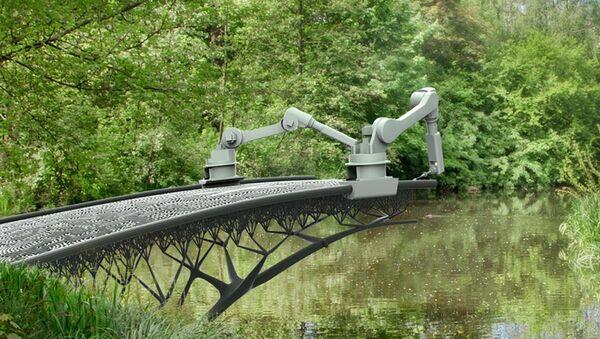 3D yazıcılar Amsterdam'da köprü inşa edecek - Sputnik Türkiye