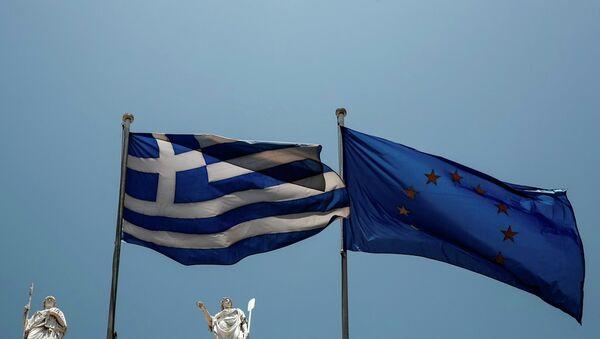 Yunanistan ve AB bayrakları - Sputnik Türkiye