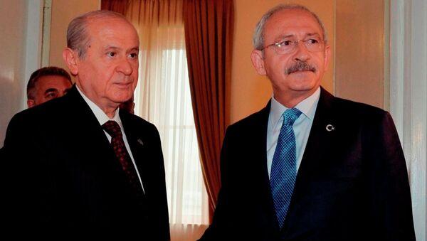 CHP Genel Başkanı Kemal Kılıçdaroğlu- MHP lideri Devlet Bahçeli - Sputnik Türkiye
