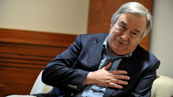 Birleşmiş Miletler Mülteciler Yüksek Komiseri (BMMYK) Antonio Guterres - Sputnik Türkiye