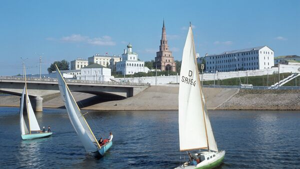 Volga nehir'den Kazan manzarası - Sputnik Türkiye