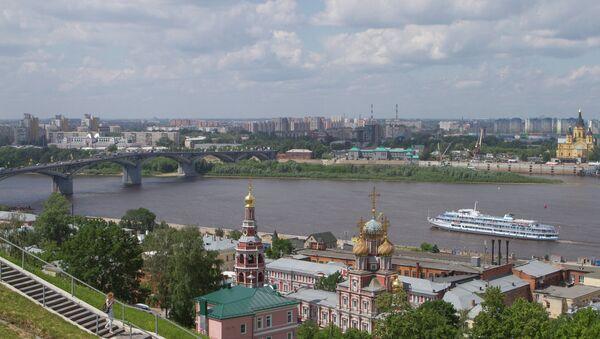 Nijniy Novgorod'da Oka nehri manzarası - Sputnik Türkiye