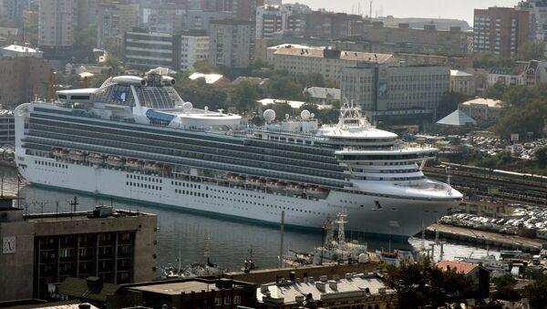 Круизный лайнер Бриллиантовая принцесса во Владивостоке - Sputnik Türkiye