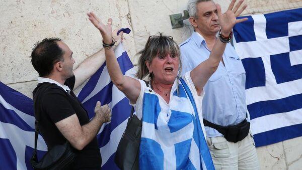 Yunanistan'da kurtarma paketine karşı gösteri - Sputnik Türkiye