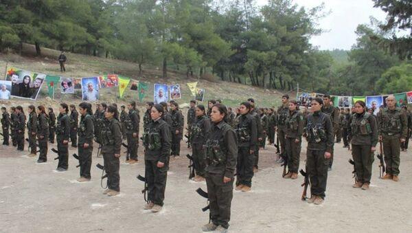 Afrin'deki YPG güçleri - Sputnik Türkiye