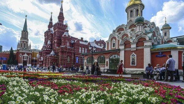 Moskova çiçek festivali - Sputnik Türkiye