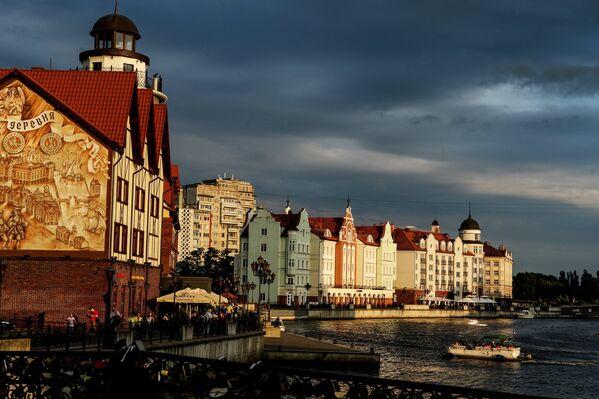 Kaliningrad'daki Staraya Pregolya Nehri - Sputnik Türkiye