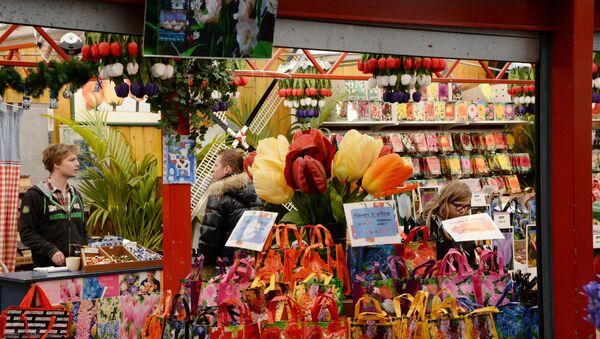A flower market in Amsterdam - Sputnik Türkiye