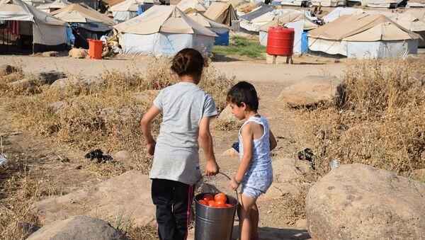 Suriye'deki Nevruz mülteci kampı - Sputnik Türkiye