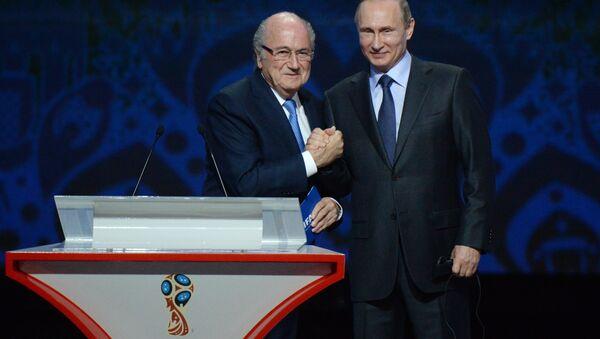 Rusya'da düzenlenecek 2018 FIFA Dünya Kupası Elemeleri kura çekimi, ülke lideri Putin'in de katılımıyla St. Petersburg kentinde gerçekleştirildi - Sputnik Türkiye