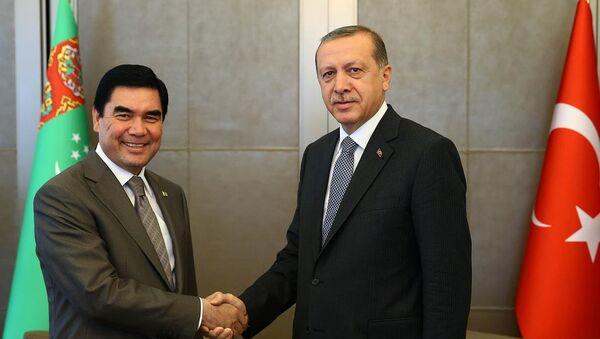 Recep Tayyip Erdoğan & Gurbangulu Berdimuhamedov - Sputnik Türkiye