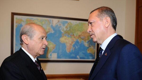 Devlet Bahçeli-Recep Tayyip Erdoğan - Sputnik Türkiye