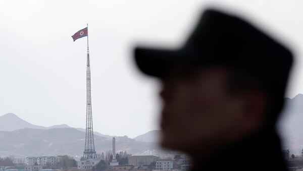 Kuzey Kore sınırındaki bir Güney Kore askeri - Sputnik Türkiye