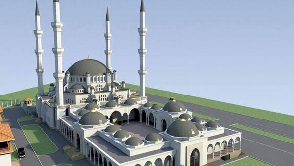 Simferopol'de inşa edilmesi planlanan Cuma Camii - Sputnik Türkiye