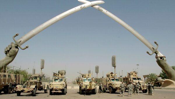 Bağdat'ın merkezinde yer alan ve Yeşil Bölge olarak adlandırılan alan, 2003'teki Irak işgalinin ardından uluslararası koalisyon güçleri tarafından oluşturuldu. - Sputnik Türkiye