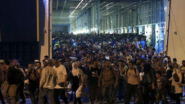Yunanistan - Pire limanı - Sığınmacı - Sputnik Türkiye