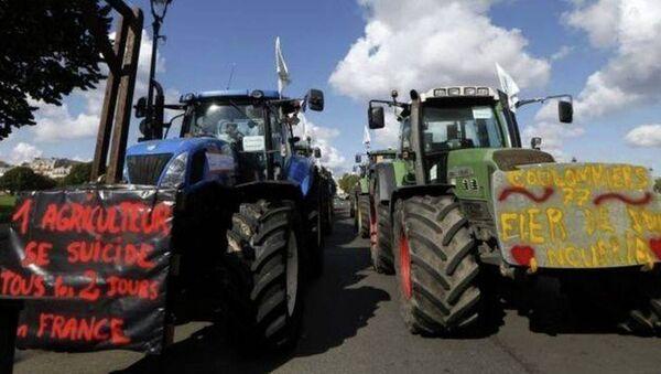 Fransız çiftçiler, traktör, protesto - Sputnik Türkiye