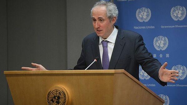Birleşmiş Milletler Genel Sekreter Sözcüsü Dujarric, - Sputnik Türkiye