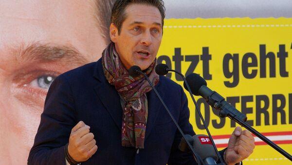 Avusturya Özgürlük Partisi (FPÖ) Genel Başkanı Heinz-Christian Strache - Sputnik Türkiye