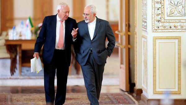 İspanya Dışişleri Bakanı Jose Manuel Garcia-Margallo- İran Dışişleri Bakanı Muhammed Cevad Zarif - Sputnik Türkiye