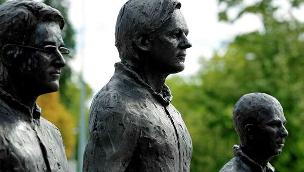 Snowden, Assange ve Manning heykelleri - Sputnik Türkiye