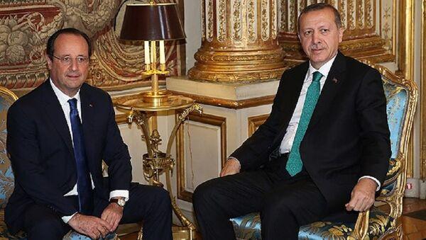 Recep Tayyip Erdoğan & François Hollande - Sputnik Türkiye