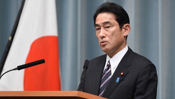 Japanese Foreign Minister Fumio Kishida speaks during his press conference at the prime minister's official residence in Tokyo - Sputnik Türkiye