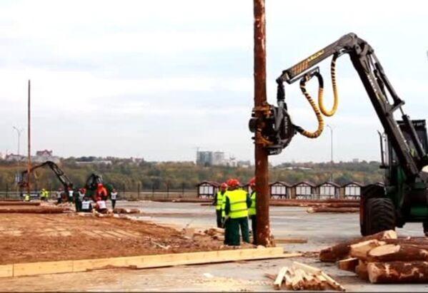 Rusya'nın ağaç kesme ustaları Kazan'da yarıştı - Sputnik Türkiye