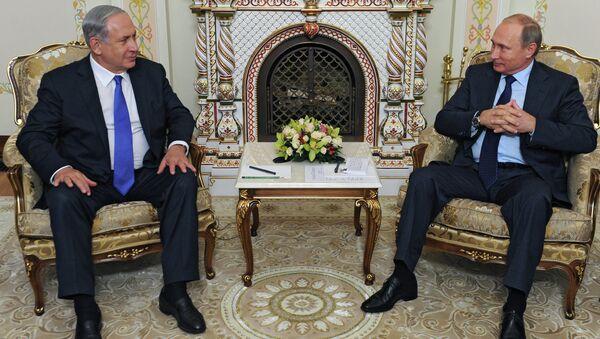 İsrail Başbakanı Benyamin Netanyahu ve Rusya Devlet Başkanı Vladimir Putin - Sputnik Türkiye