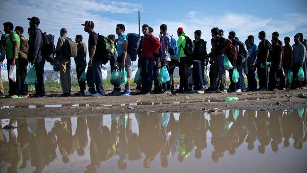 Yunanistan sınırında mülteciler - Sputnik Türkiye