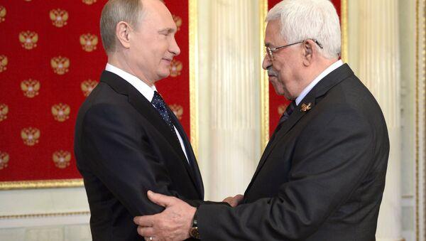 Vladimir Putin - Mahmud Abbas - Sputnik Türkiye