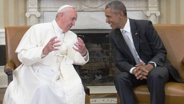 Papa Francis&Barack Obama - Sputnik Türkiye