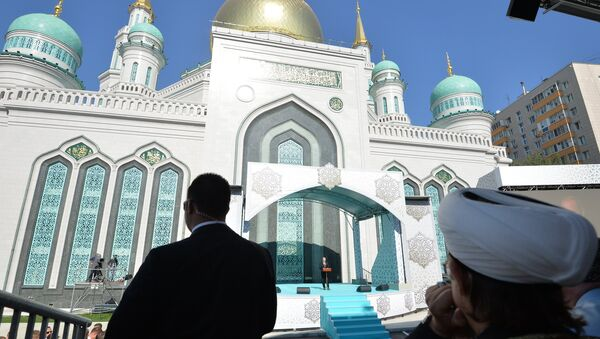 Moskova Ulu Camii törenle açıldı - Sputnik Türkiye
