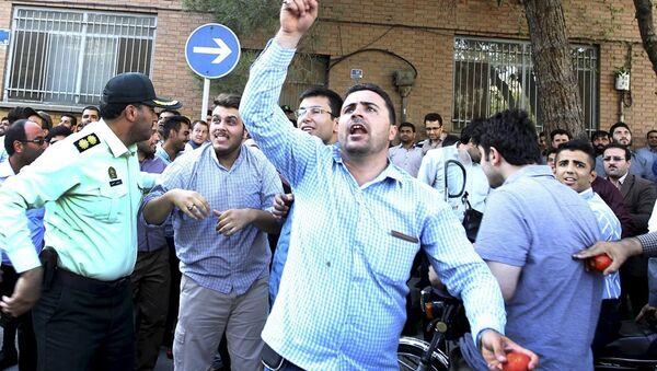 Suudi Arabistan yönetimi Tahran'da protesto edildi - Sputnik Türkiye