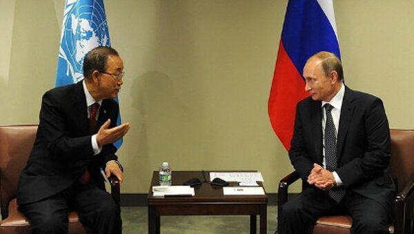 Ban Ki-mun - Vladimir Putin - Sputnik Türkiye