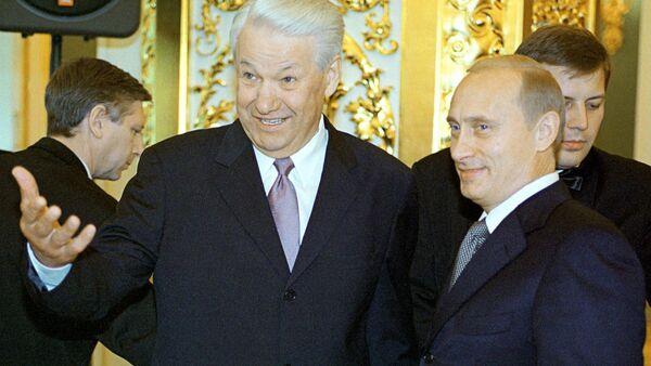 Vladimir Putin & Boris Yeltsin - Sputnik Türkiye