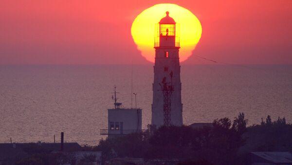 Kırım'ın batısındaki deniz feneri. - Sputnik Türkiye